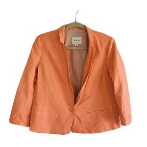 Country Road Women Peach Silk Jacket Women's Size 14 Fully Lined